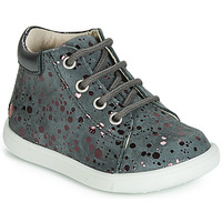 Shoes Girl High top trainers GBB NICKY Vte / Grey-spot / Pink / Dpf / Messi
