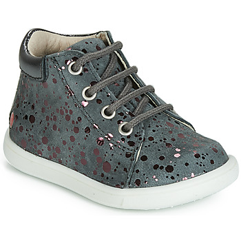 Shoes Girl High top trainers GBB NICKY Grey / Pink