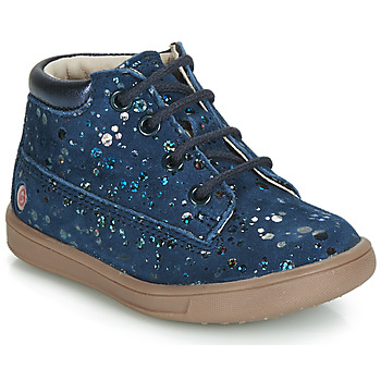 Shoes Girl High top trainers GBB NINON Vte / Marine-pois / Dpf / Messi