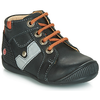 Shoes Boy Mid boots GBB REGIS Black / Orange