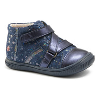Shoes Girl High top trainers GBB NICOLETA Vte / Marine-pois / Dpf / Franca