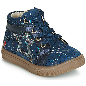 Shoes Girl High top trainers GBB NAVETTE Vte / Marine-pois / Dpf / Dolby