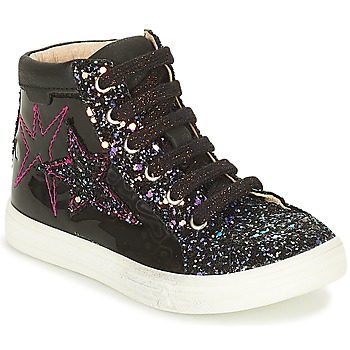 Shoes Girl High top trainers GBB MARTA Black / Pink
