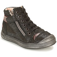 Shoes Girl High top trainers GBB DESTINY Black / Glitter