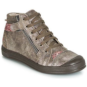 Shoes Girl High top trainers GBB DESTINY Crt / Taupe / Pink / Dpf / Edit