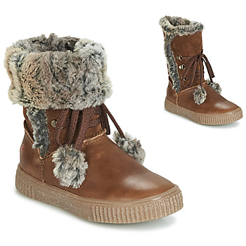 Shoes Girl Boots GBB NOUSTIK Vte / Brown / Dpf / Ester
