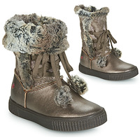 Shoes Girl Boots GBB NOUSTIK Vtc / Bronze / Dpf / Ester