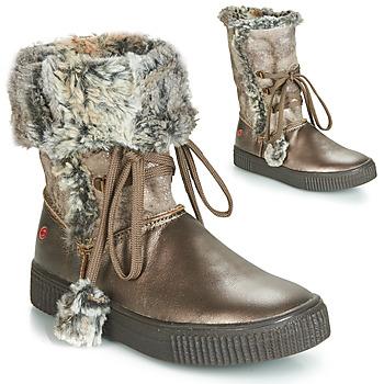 Shoes Girl Boots GBB NOUSTIK Vtc / Bronze / Dpf / Ester
