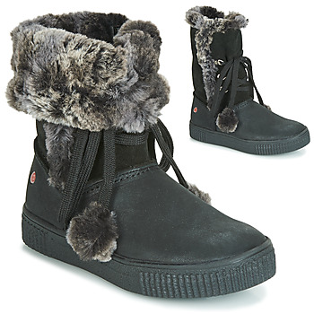 Shoes Girl Boots GBB NOUSTIK Vte / Black / Dpf / Ester