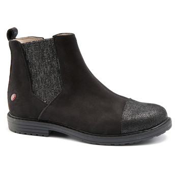 Shoes Girl Mid boots GBB LEONTINA Nuc / Black / Dpf / Emma