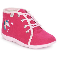 Shoes Girl Slippers GBB FEE ARC EN CIEL Raspberry / Dtx / Amis
