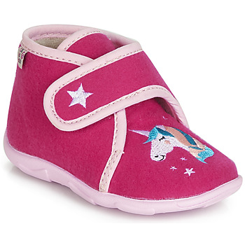 Shoes Girl Slippers GBB FEE DES BOIS Raspberry / Dtx / Amis