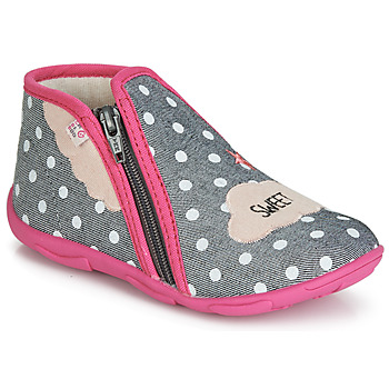 Shoes Girl Slippers GBB MILKY Gray pink / Dtx / Amis