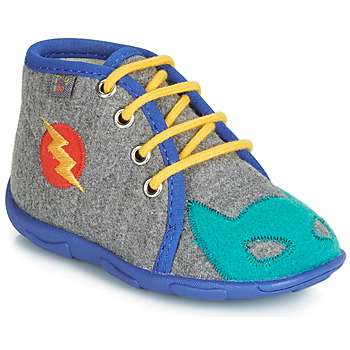 Shoes Boy Slippers GBB SUPER BOYS Gray-blue / Dtx / Amis