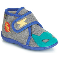 Shoes Boy Slippers GBB SUPER DOUDOU Gray-blue / Dtx / Amis