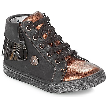 Shoes Girl High top trainers Catimini LOULOU Black / Coppery