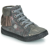 Shoes Girl High top trainers Catimini LOULOU Vte / Grey-marble / Pink / Dpf / Dolby