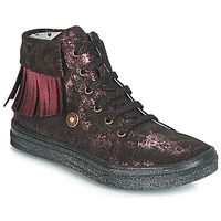 Shoes Girl High top trainers Catimini LOULOU Black / Pink