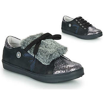 Shoes Girl Low top trainers Catimini MARGOTTE Vts / Black-pail / Silver / Dpf / 2706