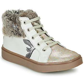 Shoes Girl High top trainers Catimini MARCELLE Vts / Sable-beige / Dpf / Flora