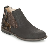 Shoes Girl Mid boots Catimini CHADOVA Black / Coppery