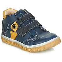 Shoes Boy High top trainers Catimini BICHOU Marine / Mustard