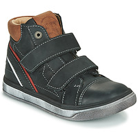 Shoes Boy High top trainers Catimini ROBBY Vte / Black / Dpf / Basco
