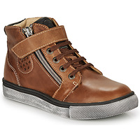 Shoes Boy High top trainers Catimini TOBBY Nub / Brown / Dpf / Tommy