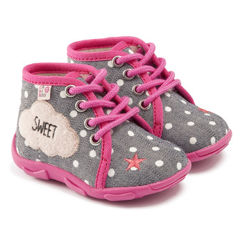 Shoes Girl Slippers GBB BUBBLE Gray pink / Dtx / Amis