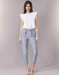 material Women 5-pocket trousers Betty London IKARALE Blue / White