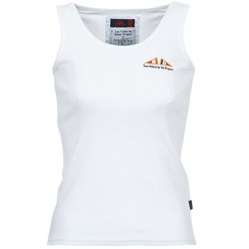 material Women Tops / Sleeveless T-shirts Les voiles de St Tropez BLENNIE White