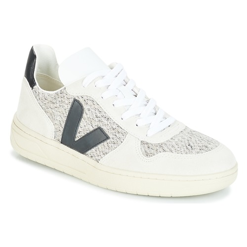 Shoes Low top trainers Veja V-10 White / Black