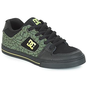Shoes Children Low top trainers DC Shoes PURE SE B SHOE BK9 Black / Green