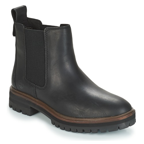 Shoes Women Mid boots Timberland London Square Chelsea Black