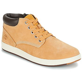 Shoes Children Mid boots Timberland Davis Square Leather Chk Wheat / Naturebuck