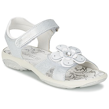 Shoes Girl Sandals Primigi LINA White / Silver