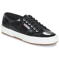 Shoes Women Low top trainers Superga 2750-LEAPATENTW Black