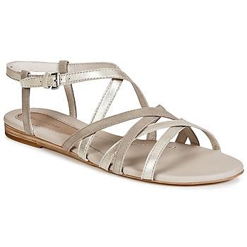 Shoes Women Sandals Marc O'Polo PRAVA BEIGE / Silver