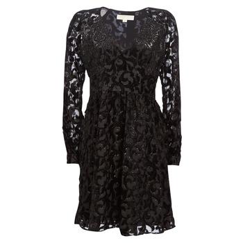 material Women Short Dresses MICHAEL Michael Kors RAGLAN SLV SHORT DRS Black