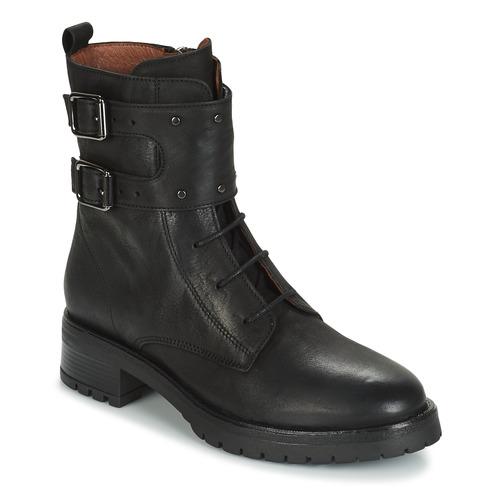 Shoes Women Mid boots Ikks REGNAUT Black