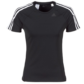 material Women short-sleeved t-shirts adidas Originals D2M TEE 3S Black