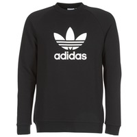 material Men sweaters adidas Originals TREFOIL CREW Black