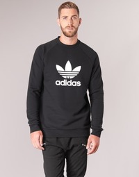material Men sweaters adidas Originals TREFOIL CREW Black