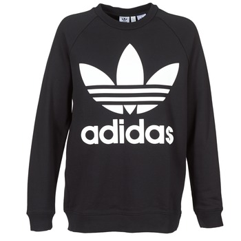 material Women sweaters adidas Originals OVERSIZED SWEAT Black