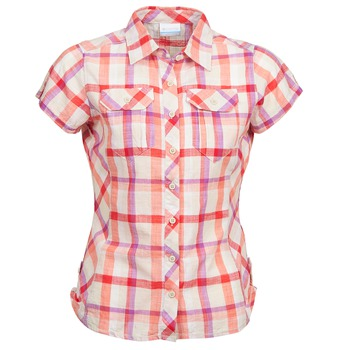 material Women short-sleeved shirts Columbia CAMP HENRY Multicoloured