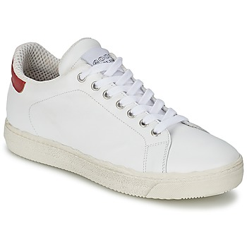 Shoes Women Low top trainers Meline AIMEE White / Red