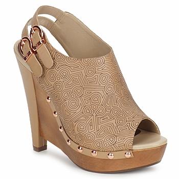 Shoes Women Clogs Zandra Rhodes BROWNWYN Sable