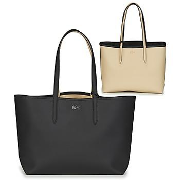 Bags Women Shoulder bags Lacoste ANNA Black / Beige
