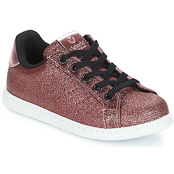 Shoes Girl Low top trainers Victoria DEPORTIVO METAL CREMALLERA Pink