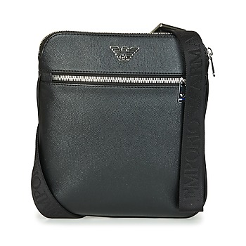 Bags Men Pouches / Clutches Emporio Armani BUSINESS FLAT MESSENGER BAG Black
